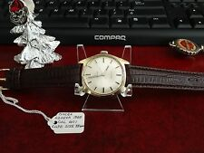 Vtg 1969 Omega Geneva 17-Jewels G.P. Cal 601 Swiss Watch w/ 18mm Leather Band