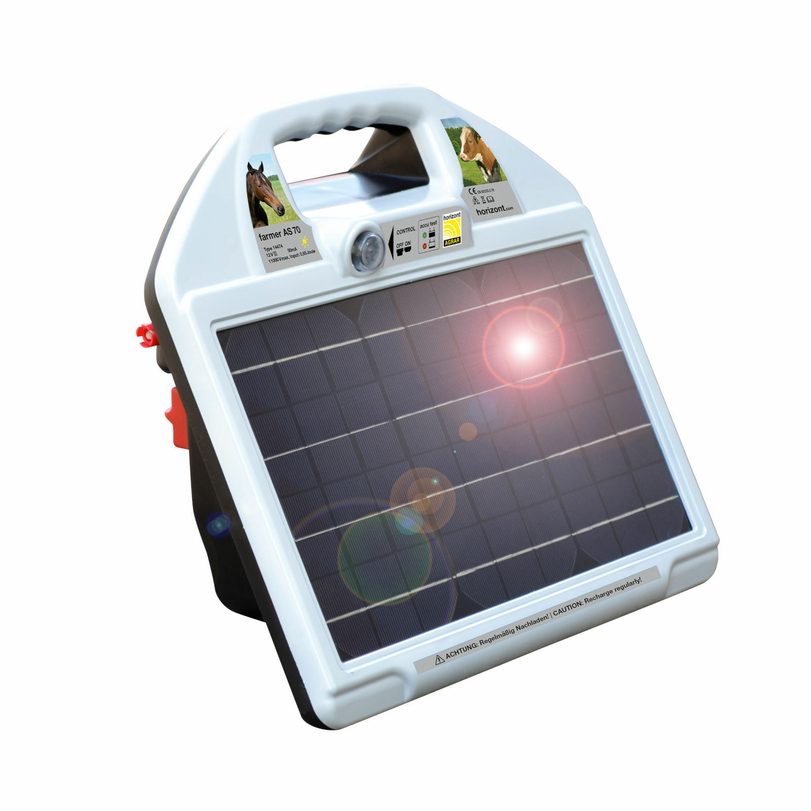 Orizzonte weidezaun dispositivo Farmer as 70 Dispositivo Solare cavalli Cinturone Pecora pascolo mucche