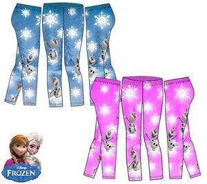 1c34235aa7 Das Bild wird geladen Disney-Frozen-Leggings-fuer-Maedchen-Die-Eiskoenigin- Hosen-