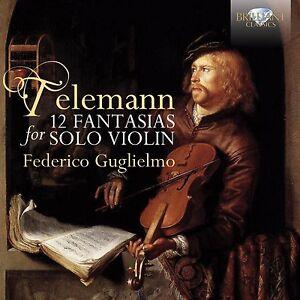 Federico-Guglielmo-12-Fantasias-for-solo-violin-CD-NUOVO-Telemann-Georg-Philipp