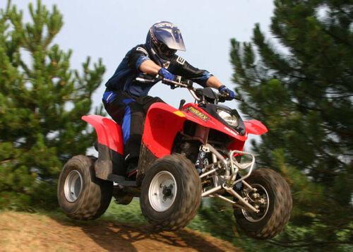 Black Skull Shock Covers POLARIS Predator 500 Phoenix 200 Racing ATV Set 3 NEW