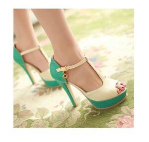 Elegantes-Sandalias-en-azul-e-beige-tacon-alto-13-5-cm-ca-n-38