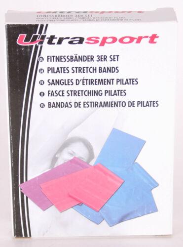 Ultrasport Fitness Bandes 3er Set dosages différents widerstandsband Bandes