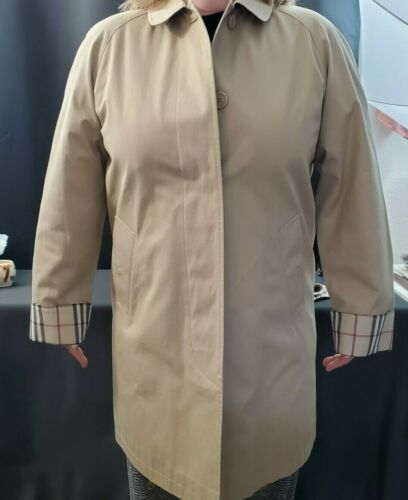 BURBERRYS WOMENS Size 10 CLASSIC TRENCH COAT JACKE