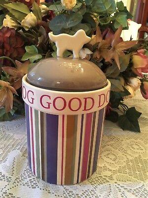 A Good Dog Dog Treat Canister W Dog Bone Handle Ceramic Producten Worden Zonder Beperkingen Verkocht