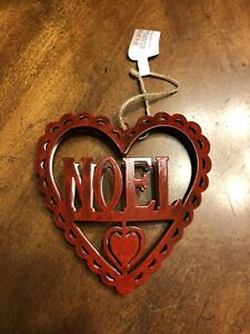 Image De Noel 3d.Details About Red Noel 3d Heart Christmas Ornament Laser Cut Metal Christmas Decor New