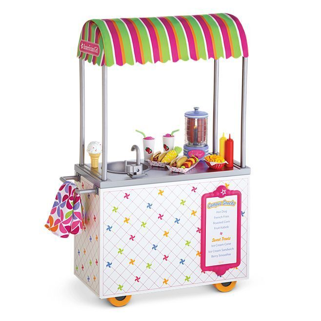 American Girl Doll Campus Snack Cart Food NEW