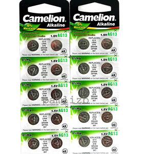 AG13  LR44 Camelion Alkaline batteries  G13 , GP76A  , LR44 , A76 battery  x 20  4260033153067