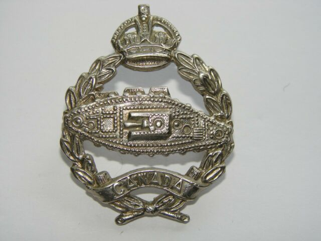 Canada WW2 Cap Badge The Canadian Armoured Fighting Vehicle Centre 1939-40