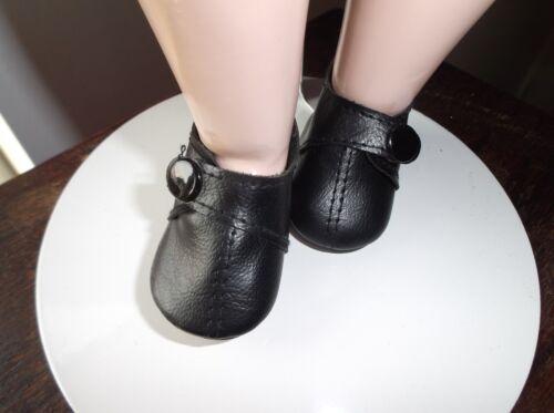 Babypuppen & Zubehör Kleidung & Accessoires 55 mm schwarz VINYL PUPPE Schuhe mit Druckknopfverschluss