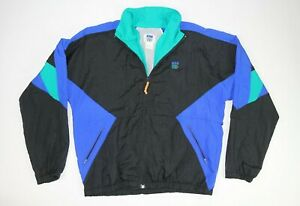 Vintage-90s-80s-IN-Sport-Jacket-Mens-Size-Large-Blue-Green-Black-Old-School