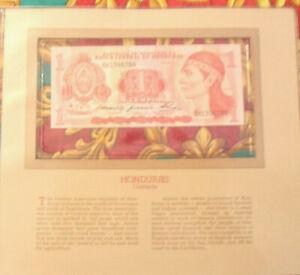 Most Treasured Banknotes Honduras 1 Lempira 1980 P 68a UNC Prefix BH
