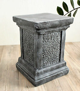 S ule f r figuren sockel f r statuen empore stele stein garten deko frostfest ebay - Baumstamm deko saule ...