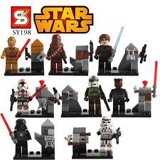 8 PC Mini Figuras de ajuste con LEGO Star Wars Clone Troopers Imperio Jedi la fuerza