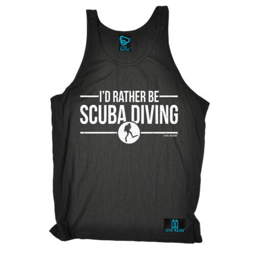 Open Water Id Rather Be Scuba Diving Uni Vest Dive Gear Funny Gift Birthday