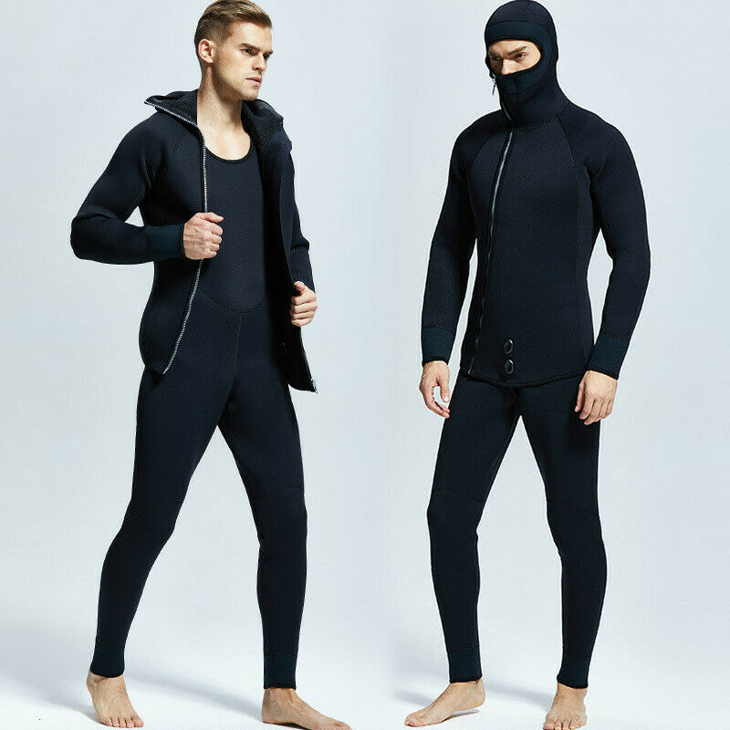 Professional 5mm 7mm Neoprene Wetsuit  Winter Warm Two Piece Spearfishing Suit  free delivery and returns