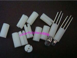 1000pcs White Plastic Led Holders Cover Holder for 3mm//5mm 3-Pin 3-Lead Leds LED