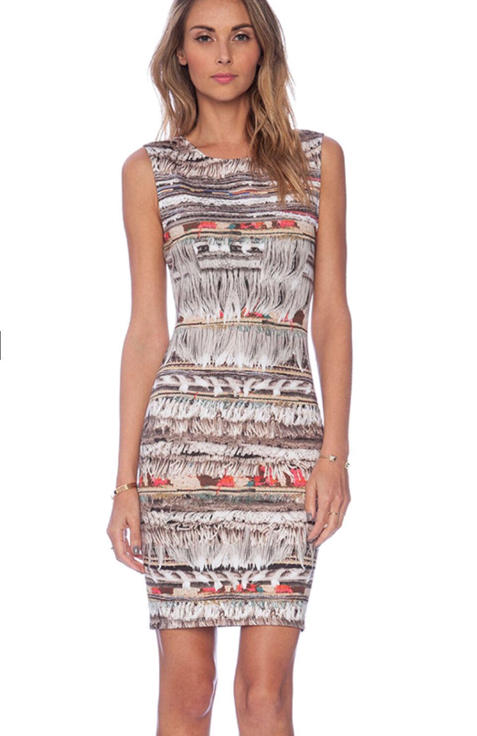 NWT Mara Hoffman neoprene fringe sleeveless dress choose Größe S  -