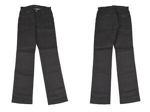 Nudie Slim Jim Sec Enduit Noir Jeans Jambe Droite Hommes Jean W28 L32