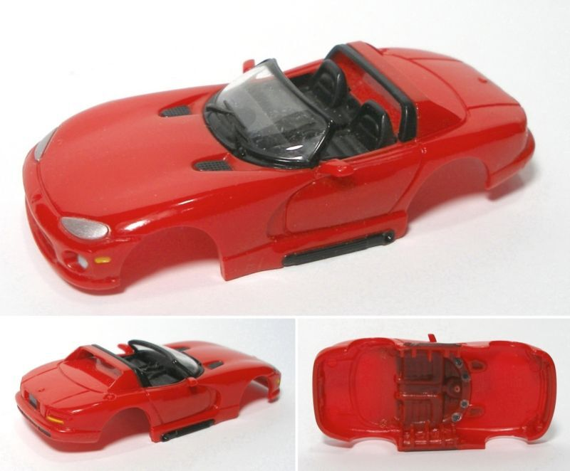 6 1994 Viper RT 10 TYCO WIDE Slot Car BODY Rarely Seen A+