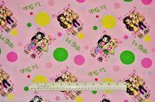 1/2 yard cotton fabric Lil Bratz by MGM Entertainment girls dolls toys quilt sew