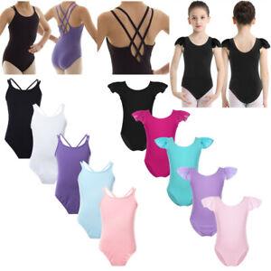 Girls-Ballet-Dance-Basic-Leotards-Kids-Gymnastics-Sleeveless-Jumpsuits-Dancewear