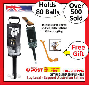 Golf-Shag-Bag-75-80-Balls-Convenient-Pocket-Tees-Pick-Up-Ball-Storage-Portable