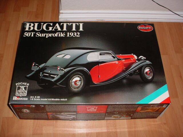 POCHER 1/8 K86 1932 BUGATTI 50T SURPROFILE MODEL KIT NIB