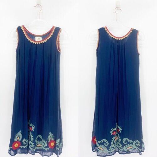 Anthropologie Ritu Kumar Womens Blue Embroidered P