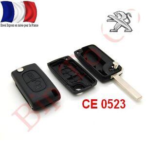 Coque Télécommande Plip 2 Boutons Peugeot 207 307 407 807 Ce0523