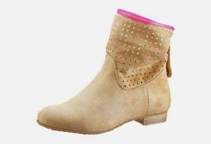 Andrea-Conti-Stiefelette-Gr-38-sand-beige-Schuhe-NEU