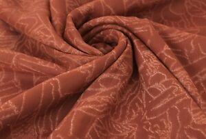 Indian Vintage Saree Crepe Silk Fabric Floral Printed Used Blue Craft Sri 5 Yard VCRP3201