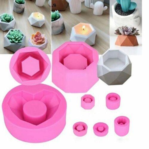 Silicone Mold Creative Geometric Polygonal Concrete Flower Pot Vase Mould j j