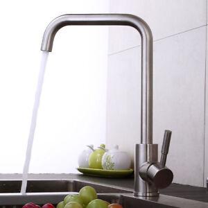 Edelstahl Gebürstet Wasserhahn Küche Spültisch Mischbatterie ...