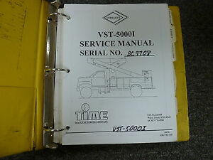 versalift vst50001 aerial bucket truck platform lift shop service rh ebay com Versalift Maintenance Versalift Parts