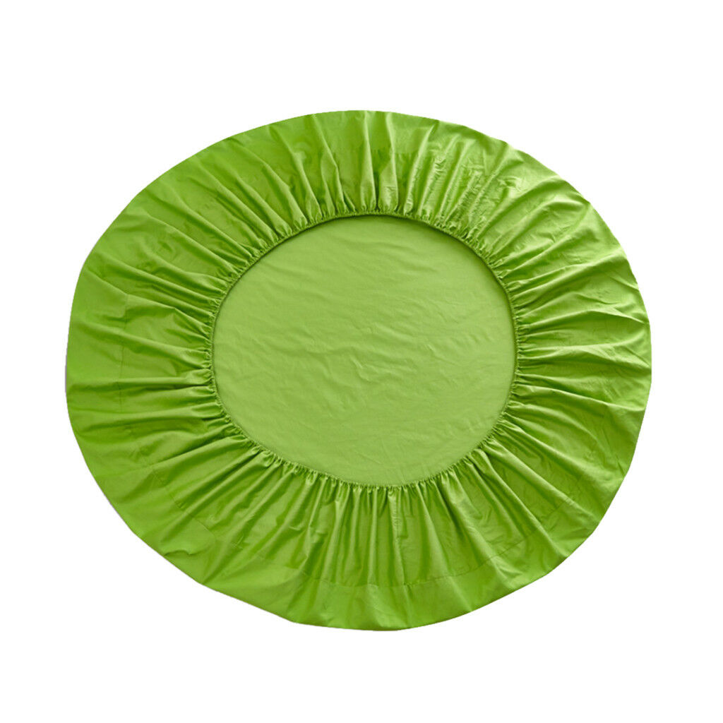Pure Cotton Fitted Sheets Home Textile Round Princess Bed Covers Apple Green