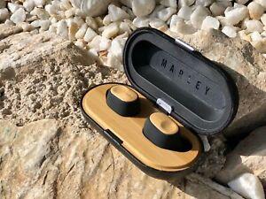 House of Marley liberar Air verdaderamente Inalámbrico Auriculares Auriculares negro y madera 9hr