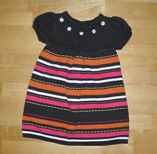 GYMBOREE FALL FOR AUTUMN BROWN STRIPED SWEATER DRESS GIRLS 18 24 MO WINTER