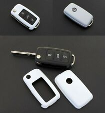 VW Car Remote Flip Key Cover Case Skin Shell Cap Fob Protection ABS WHITE 2010-