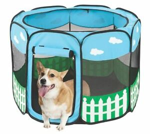 Pet-Portable-Play-Pen-Exercise-Kennel-Tent-Dog-Soft-Playpen-Cat-Fold-Crate-Puppy