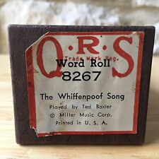 QRS Player Piano Roll The Whiffenpoof Song 8267 Vintage Ted Baxter 1936