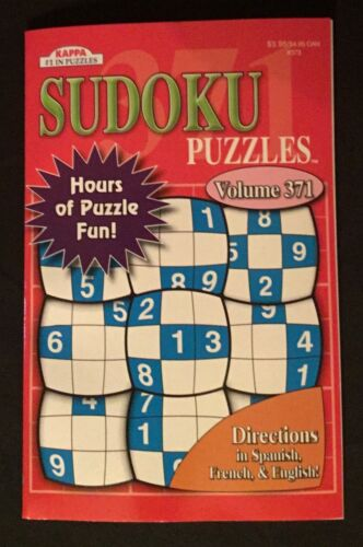 BRAND NEW!!!    Kappa SUDOKU Puzzles VOLUME 371