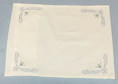 "Cotton Floral Hand Embroidered Pillow Case 12/""x 16/""  Ships Free Stuffed or Flat"