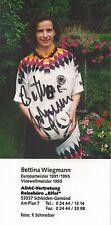 Autogramm Bettina Wiegmann Frauen Fußball WM Olympia 9x18 Foto original sign.