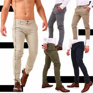 Pantaloni-Uomo-Slim-Fit-Chino-Eleganti-Classico-da-Ufficio-Casual-Cotone-America