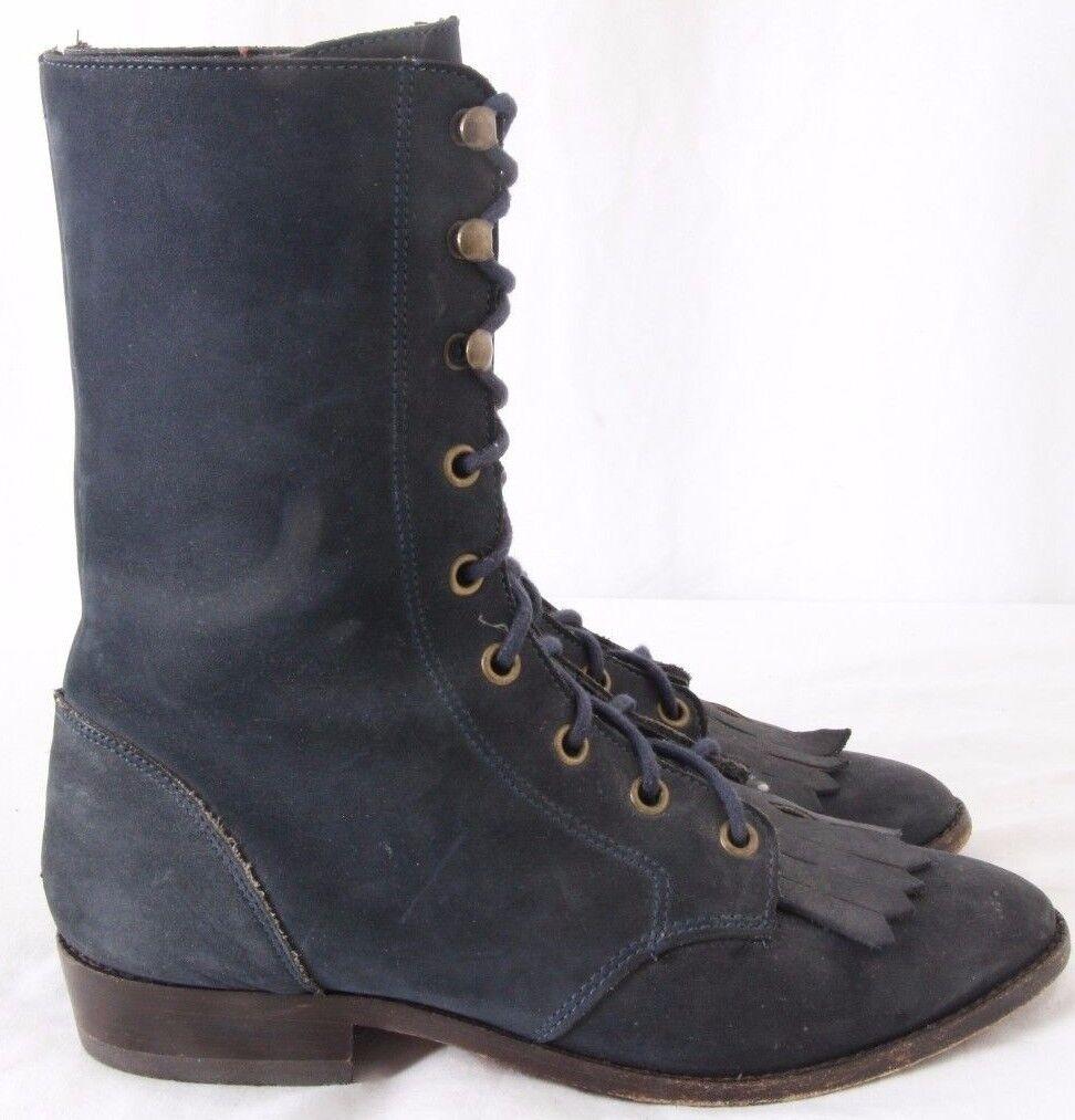 Zodiac USA 627033 Kiltie Roper Nubuck Western Lacer Boots Women's US 6.5M