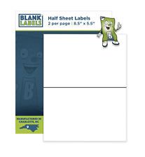 1000 85 X 55 Half Sheet Labels Shipping Self Adhesive For Ebay Paypal Amazon