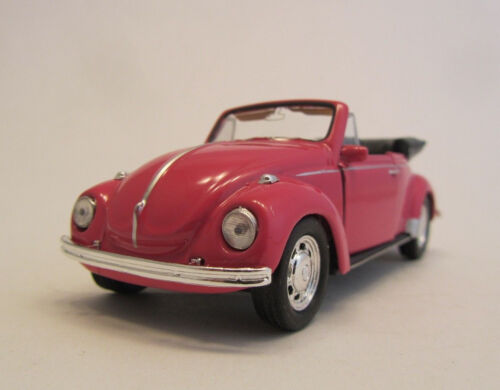 Welly VW Beetle//rosa//Pink//retirada motor//presión fundición Model//1:39//embalaje original//Nuevo