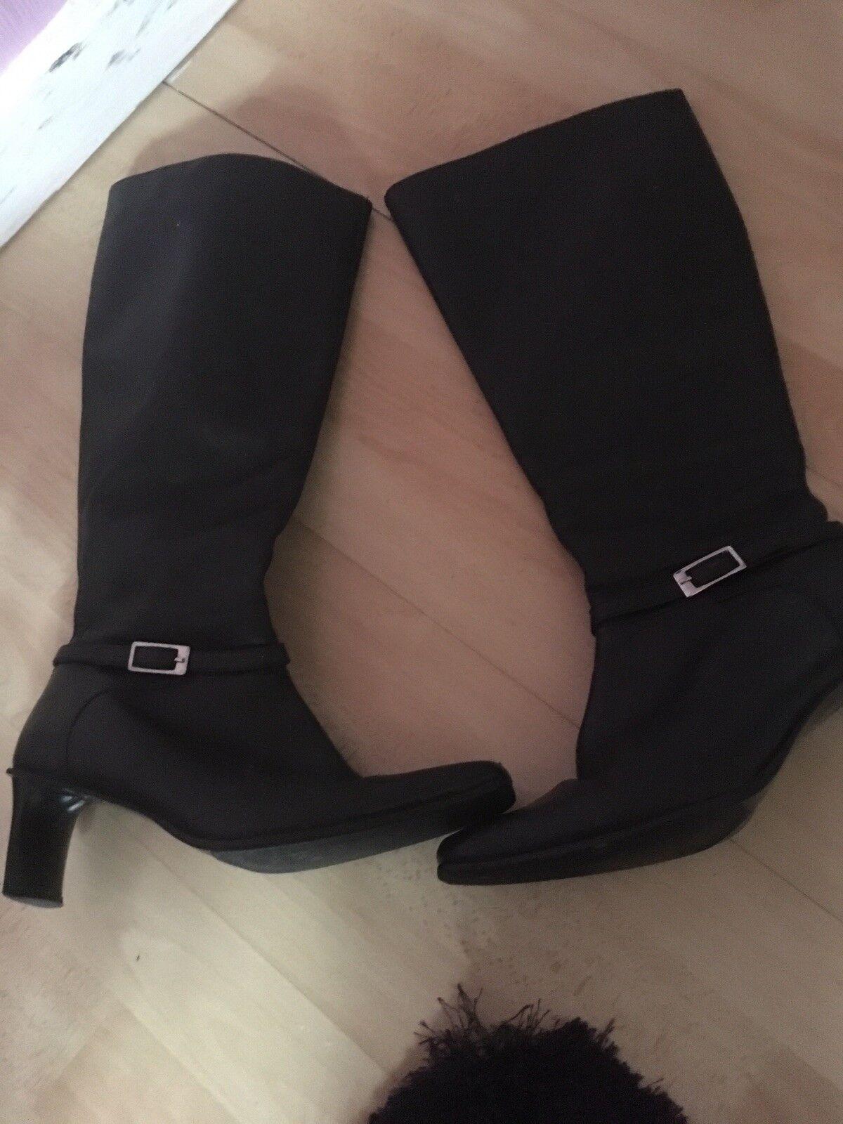 Ladies Black. Long Boots Size 4 ..