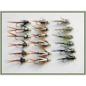 Copper John Trout Fly 6 Gold head Copper John Mixed 10//12//14 Fishing Flies